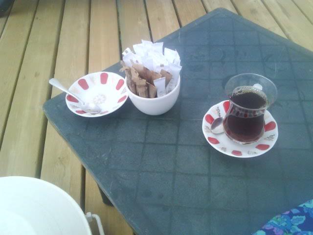 Tee on a pier