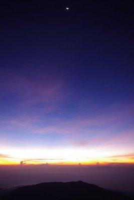 Moonrise over Lombok and Sumbawa