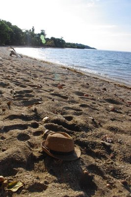 Hat chilling on Sumbawan beach