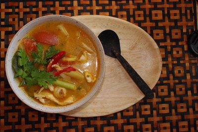 Tom Yum Soup...delicious especially when made fresh and by yours trully