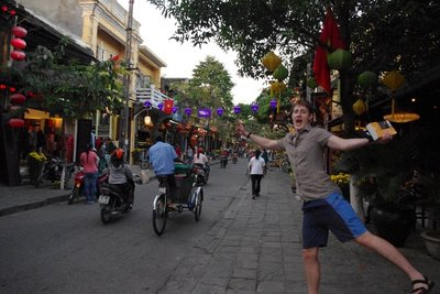 Beautiful historic Hoi An...oh and Justin