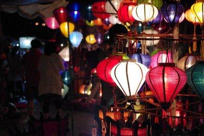 Lantern festival on the night of the full moon
