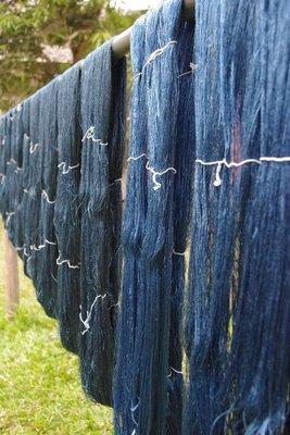 Silk drying in the sun