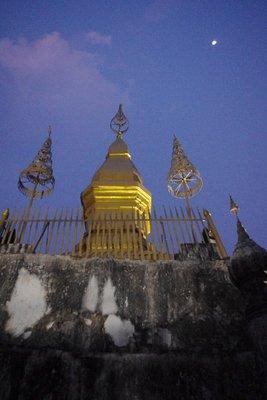 Phu Si at sunset