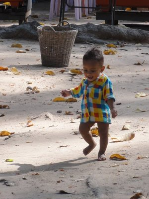 One of the many happy Cambodian children