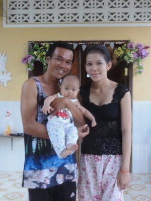 Bun and his wife and baby girl