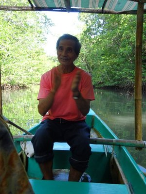 Guide singing song about the mangroves