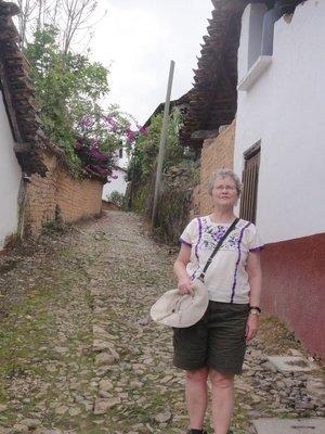 Standing in the street of San Sebastian