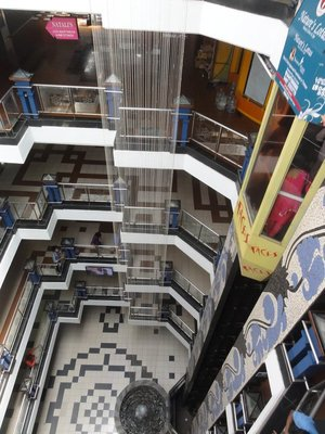 Looking down from the top floor
