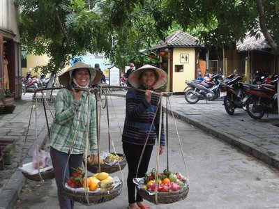 Two of the fruit vendors