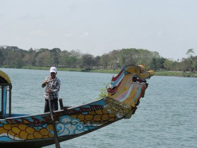 Our dragon boat and boatman