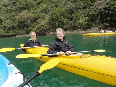Our kayak selfie