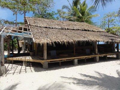 A shady lounge area