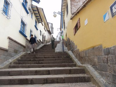 Street is so steep only pedestrians can use it.