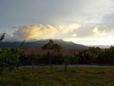 Sunrise over the volcano