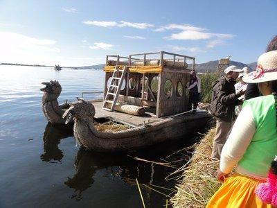 Uros Island boat