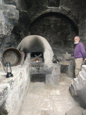 Kitchen and clay oven at Convent of Santa Catalina