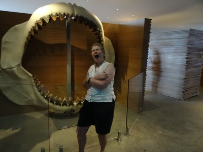 Being eaten by a megalodon shark although extinct now can you imagine one of these 60 foot monsters coming after you? one chomp and you would be goners.