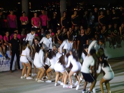 One of the cheer-leading groups