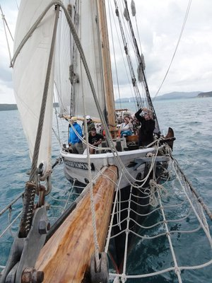 The ship from the bowsprit