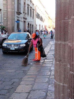 Streetsweeper at work