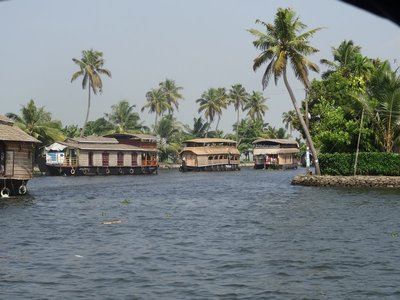 Some of the many houseboats - its like a boat freeway!