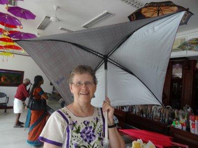 Square umbrella - even the handle is square!