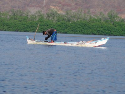 Mussel fisherman