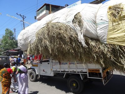 A hay truck