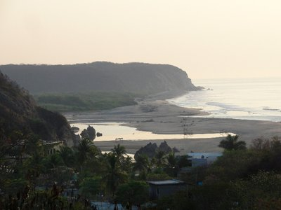 The beach from the road above