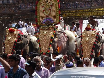 One of the stops in the procession