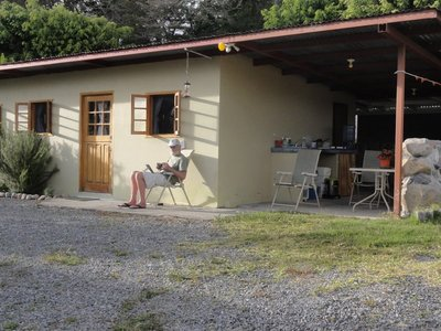 Don outside our cabina