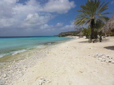 Pretty empty beach at Kas Abou