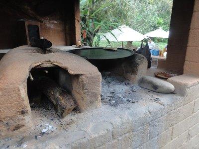 Wood fired tortilla cooker
