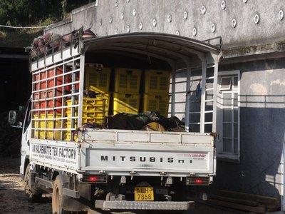 Tea truck ready to unload