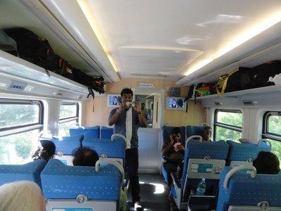 Inside first class