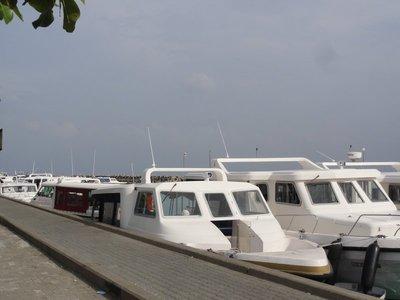 The speedboat dock