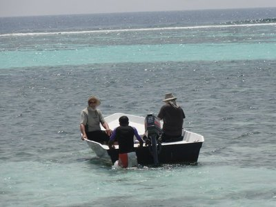 Setting out for snorkeling
