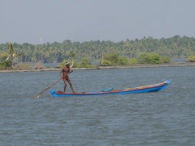 Poling the canoe