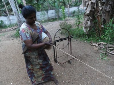 Coir spinning