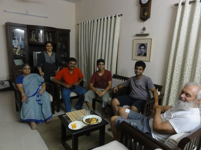 The family in their lovely home