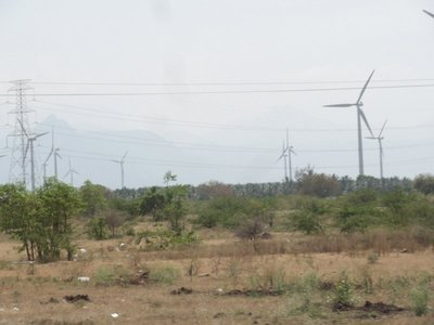 Wind turbines outside Thrissur