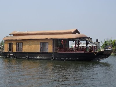 One of the many houseboats