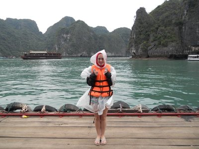 Freezing cold in Halong Bay