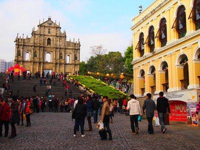 Ruins of St-Paul Cathedral in Macau