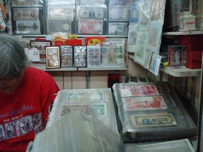 money stall