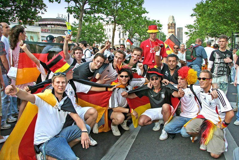 German soccer fans
