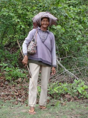 A smiley Cambodian lady