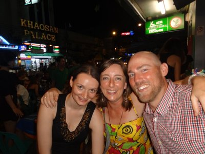 On the Khao San Road with lovely people from the hostel