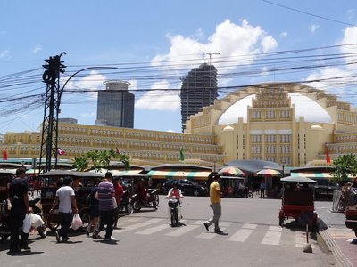 The 1930's Central market building in Phnom Phen